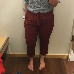GAP Elastic Waist Red Pants 14